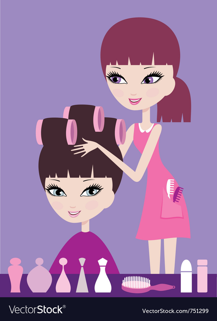 Hairdresser vector | Price: 3 Credit (USD $3)