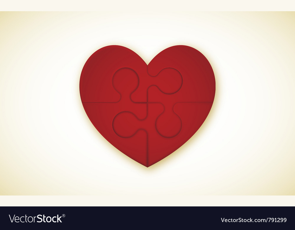 Heart puzzle vector | Price: 1 Credit (USD $1)