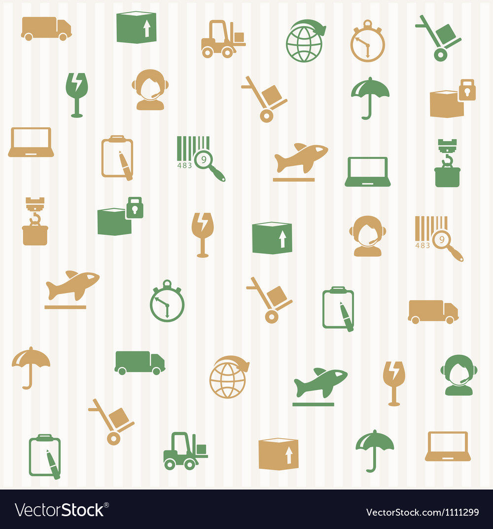 Logistic seamless pattern vector | Price: 1 Credit (USD $1)