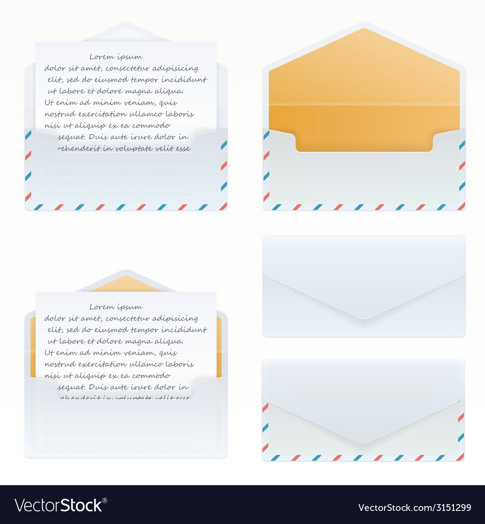 Mail open and closed set vector | Price: 1 Credit (USD $1)