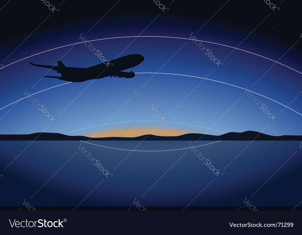 Night plane vector | Price: 1 Credit (USD $1)