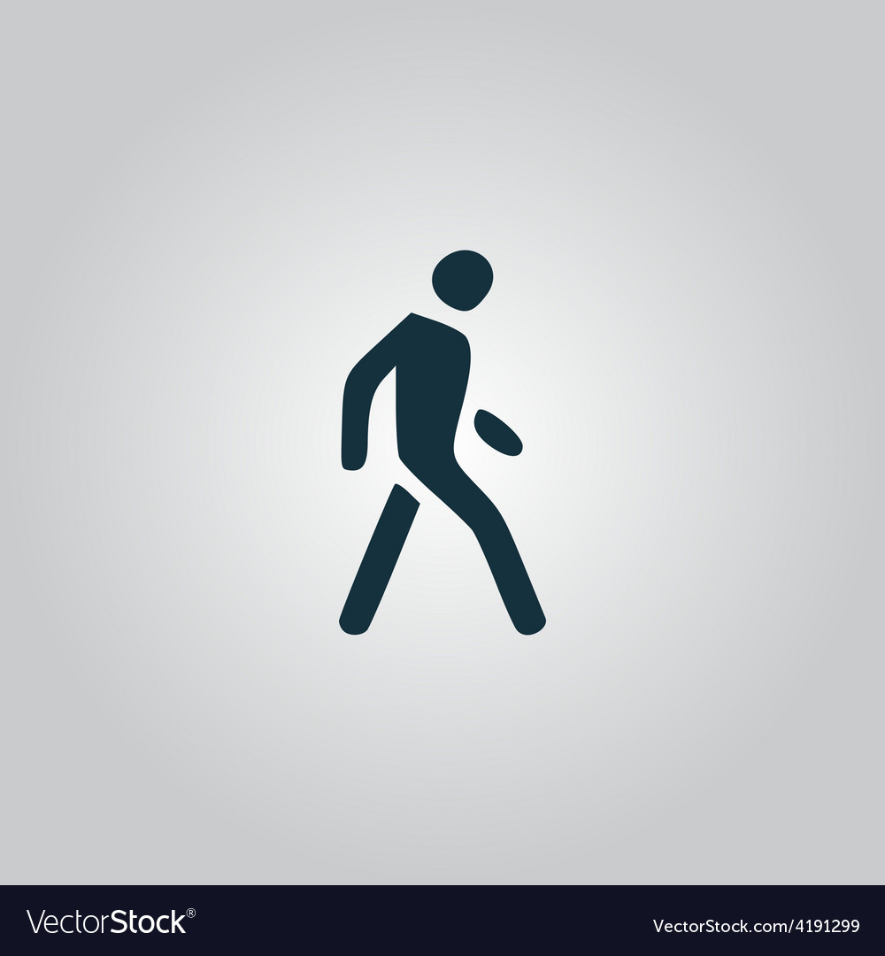 Pedestrian symbol vector | Price: 1 Credit (USD $1)