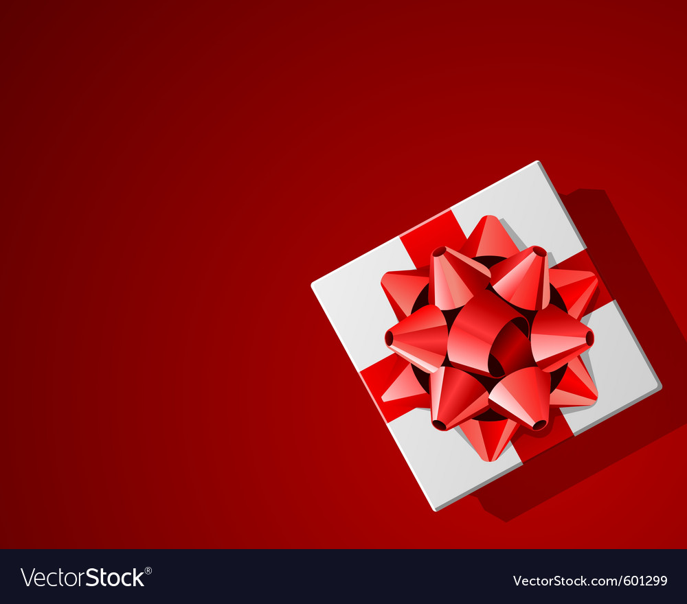 Red present background vector | Price: 1 Credit (USD $1)