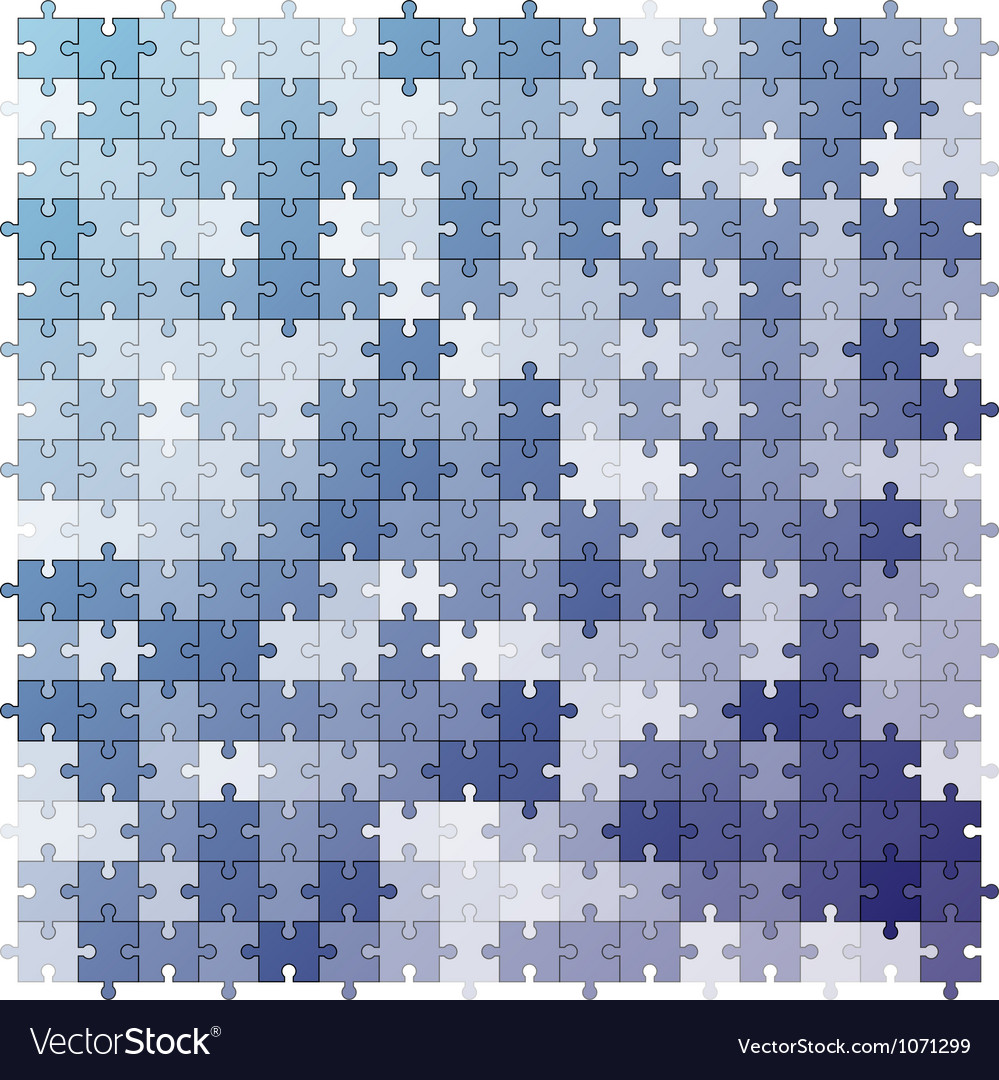 Seamless color puzzles background vector | Price: 1 Credit (USD $1)