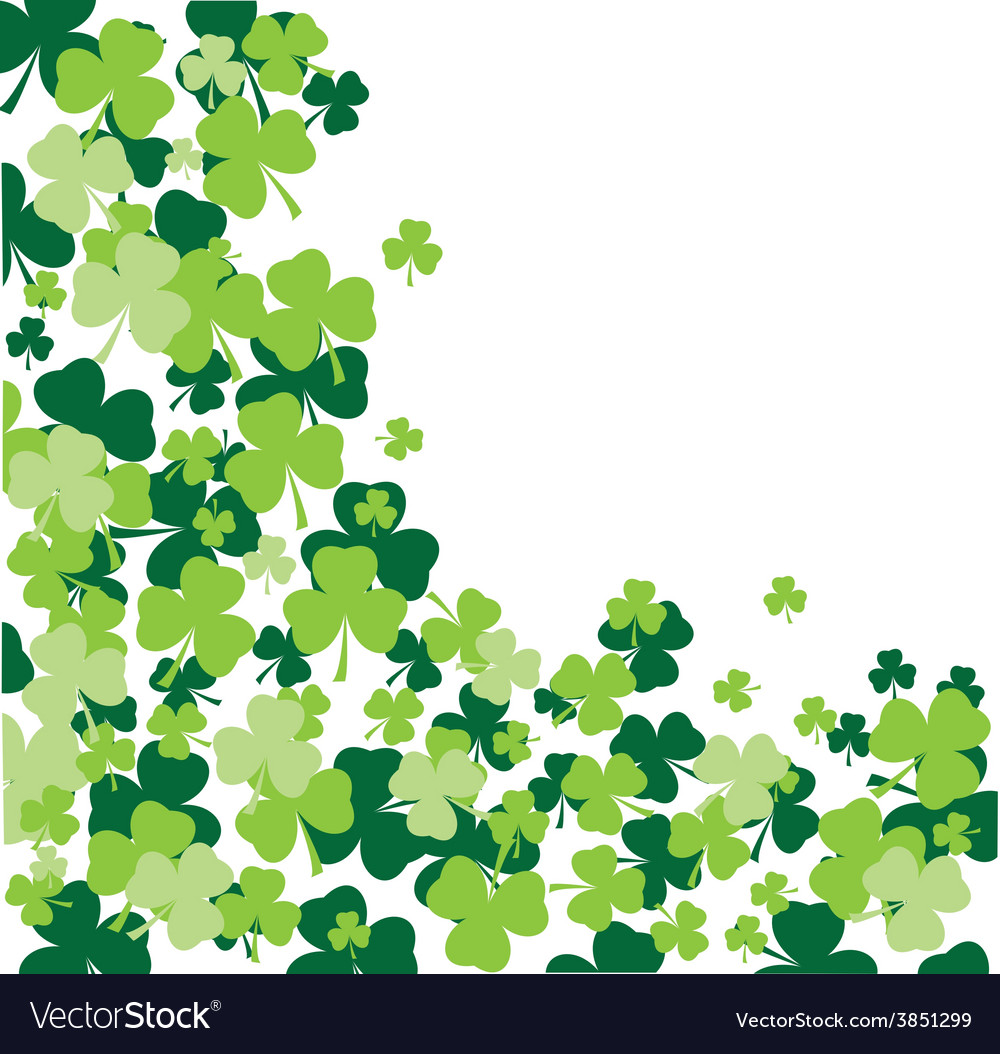 Shamrock leaves background vector | Price: 1 Credit (USD $1)