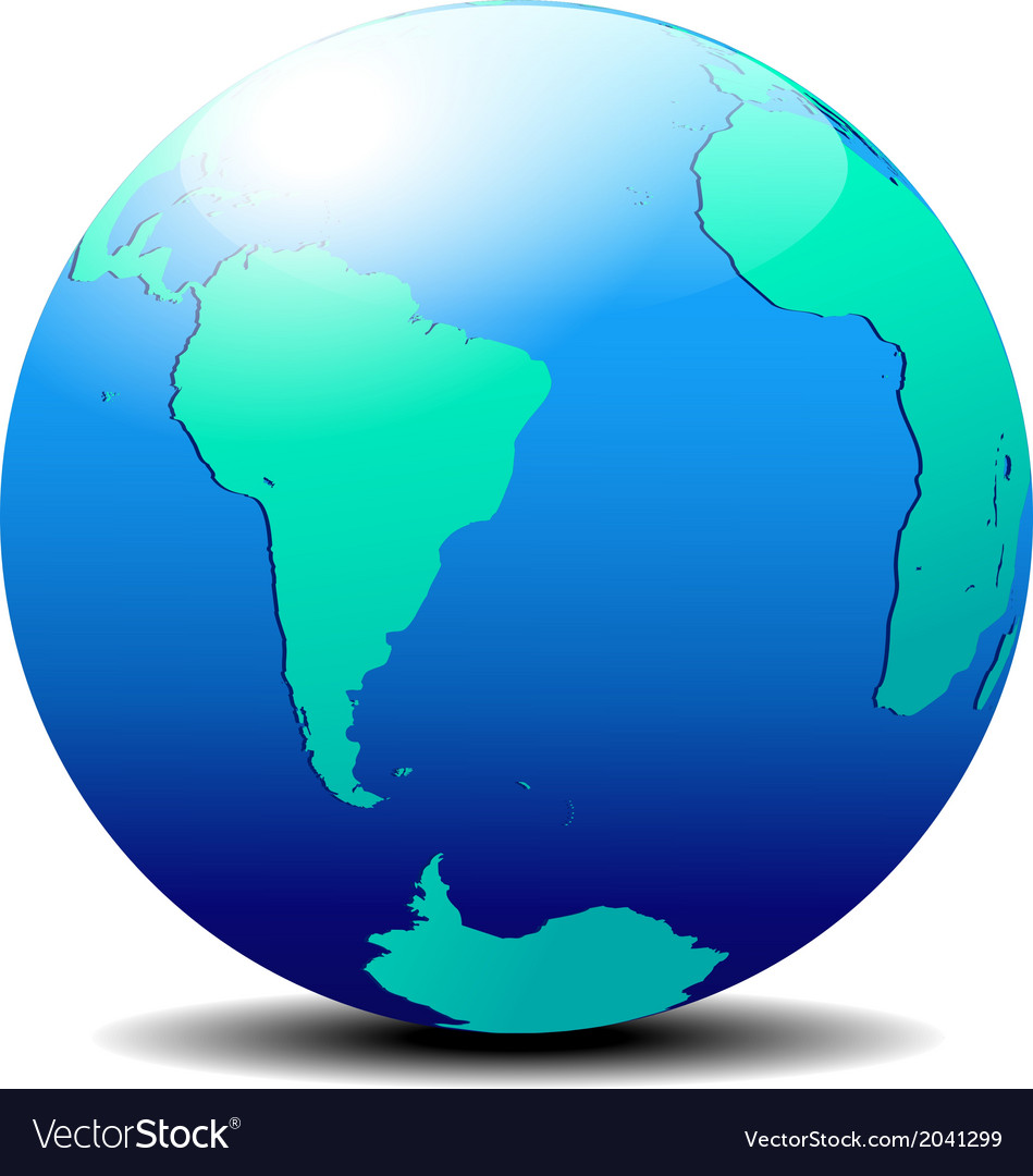South america and africa global world vector | Price: 1 Credit (USD $1)