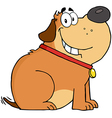 Fat dog cartoon mascot character vector