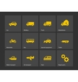 Cars and transport icons vector