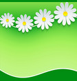 Floral frame background with 3d chamomile vector