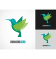 Tropical bird - humming icon vector