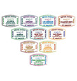 American cities passport stamps vector
