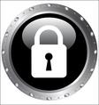Black button icons - lock icon on a web button vector