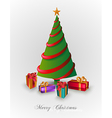 Merry christmas tree with presents eps10 file vector