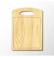 Wooden cutting board vector