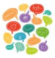 Colorful bubble speech vector