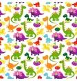 Baby dinosaurs pattern vector