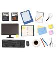 Big office supplies set4 vector