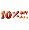 A ten percent off sale vector