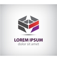 Abstract geometric icon logo isolated vector