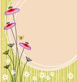 Image flower landscape vector