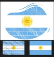 Scratched flag of argentina vector