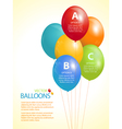Colourful balloon infographic background vector