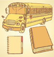 Education bus vector