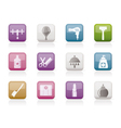 Personal care and cosmetics icons vector