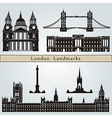 London landmarks and monuments vector