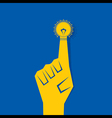 Business concept - finger with bulb vector