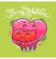 Hugging valentine hearts vector