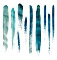 Blue watercolor brush strokes vector