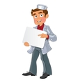 Medical young men with blank area for text or logo vector