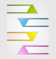 Abstract geometric web sticker banners vector