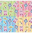 Princess patterns set vector