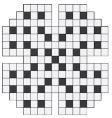 Empty crossword puzzle vector