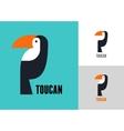Tropical bird toucan vector