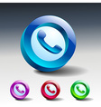 Glass icons green talking telephone phone vector