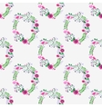 Seamless watercolor pattern with gorgeus flower vector