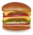 Big cheeseburger vector