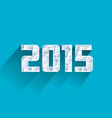 Abstract ice polygonal 2015 new year vector