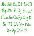 English hand-written alphabet in spring style vector