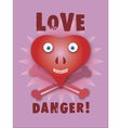 Love danger vector