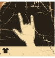 Vintage hipster hand vector