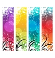 Four abstract vertical banners vector