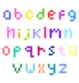 Pixel lower case alphabet vector