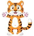 Cute baby tiger cartoon vector