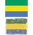 Gabon grunge flag vector