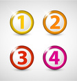 One two three four - progress icons vector