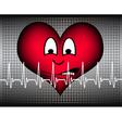 Heart afraid on grey white cardio line vector